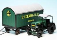 """Deutz F3 M 417 Traktor (1942-1953) mit Anhänger """"Schenker & Co. Nürnberg"""""""