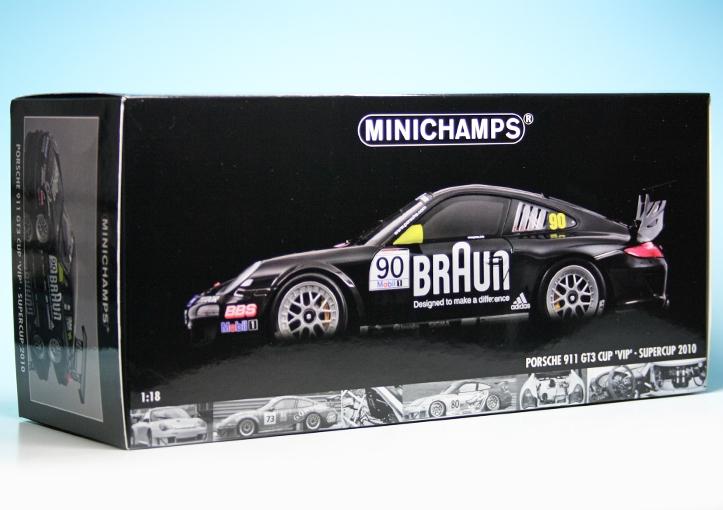 Porsche 911 997 GT3 Cup Supercup 2010 VIP Braun 1:18 Minichamps